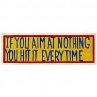 RAM Gameroom If You Aim at Nothing Wall Sign - ODR224 - Decor