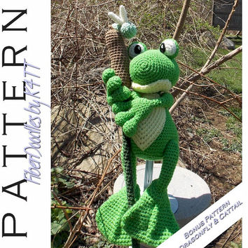 INSTANT DOWNLOAD : Fernando the Frog Crochet Pattern