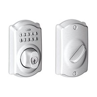 Schlage BE365 CAM 626 Camelot Keypad Deadbolt, Satin Chrome