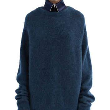Acne Studios - Dramatic mohair dusty blue
