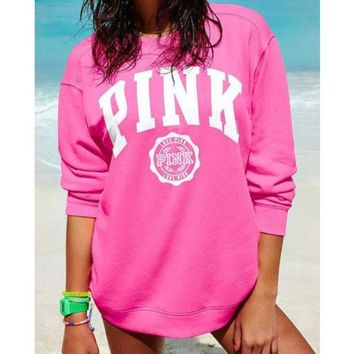 Chenire PINK Victoria's Secret Long Sleeve Shirt Pullover Sweater Blouse Top