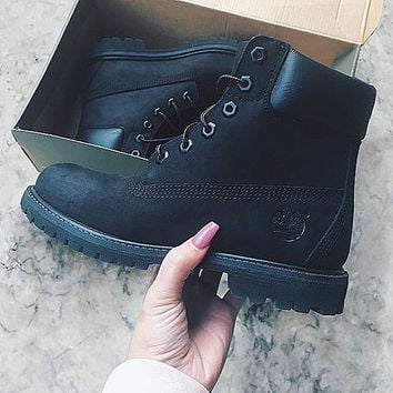 Timberland boots for men and women shoes waterproof Martin boots lovers Black