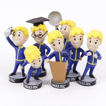 Fallout 4 Vault Boy Figures Bobble Head PVC Figure Collectible Model Toys Gift for Children 7 Styles