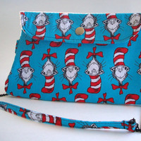 The Cat in the Hat Clutch Purse with Chain Strap / Dr Seuss