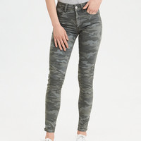 AE Sateen X High Waisted Jegging Crop, Olive