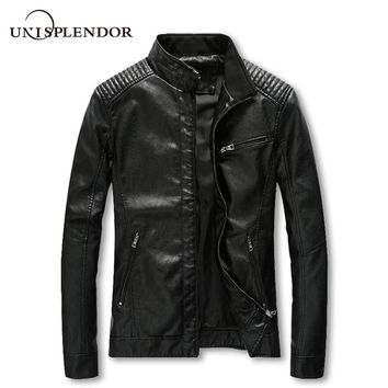 HipHop Bomber Jackets Men's Clothing Male Leather Jacket New Fashion Casual Pilot Overcoat Homme Solid Cool Jacket YN10156
