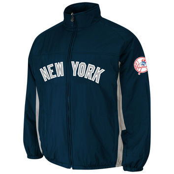 New York Yankees Authentic 2015 Therma Base Double Climate MLB Baseball Jacket (Road)