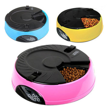 New Shop Crazy Cats LCD Digital Automatic Cat Feeder Bowl