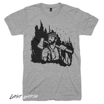 Lumberjack T Shirt The Mountains Are Calling T Shirt First Birthday Party Baby Shower Gifts For Him Mens Tshirt Womens Graphic Tees