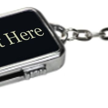 Black Customized 3D Laser Engraved Personalized 8 GB Metal Custom USB Flash Drive with Keychain