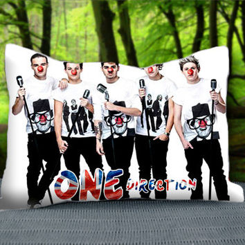 "Cute Funny Clown One Direction Custom Pillow Case 30"" x 20"""