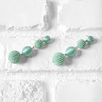 Mint Statement Drop Earrings