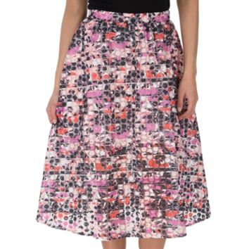 0f01063c1136 Sam Edelman Women s Contemporary Enchanted Kiss Floral Embroidered Organza  Midi Skirt