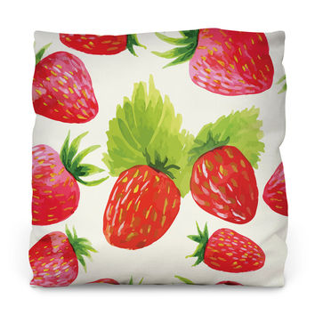 Strawberry Fields Outdoor Throw Pillow