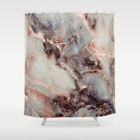 Marble Texture 85 Shower Curtain by Robin Curtiss