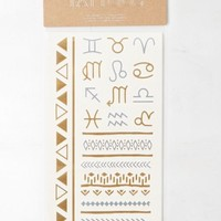 AEO Women's Metallic Zodiac Temporary Tattoos (Mixed Metal)