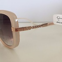NWT Jessica Simpson Opaque Pink and Gold Women's Sunglasses