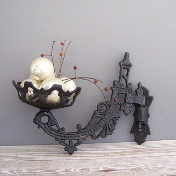 antique cast iron candle holder oil lamp base by KatyBitsandPieces