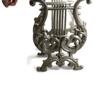 Shabby Chic Music Rack Lyre or Harp Magazine Rack Romantic Home French Paris Vintage Music Rack Victorian Wedding Decor Shelf Display