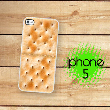 iPhone 5S Case | iPhone 5 Saltine Cracker | Hard Case For iPhone 5 Plastic or Rubber Soup cracker