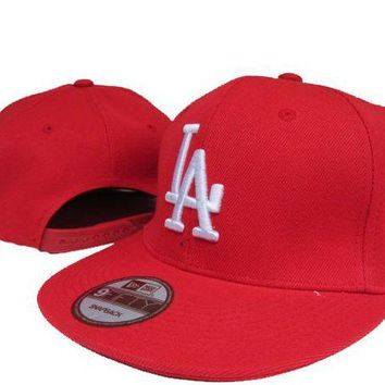 LMF8KY Los Angeles Dodgers New Era MLB 9FIFTY Cap Red-White