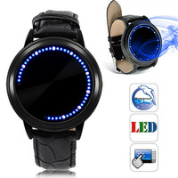 Unisex Touchscreen Watch with LED Dots