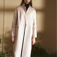 Wool Cashmere Blend Thin Coat