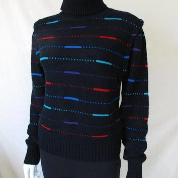 50% FALL SALE Vintage 80s Super Awesome Centipede Atari Style Women's Turtleneck Sweater