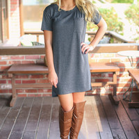Your Girl Dress - Charcoal