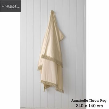 Annabelle Gold Throw Rug by Bianca Elegance - Manchester House