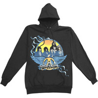 Aerosmith Men's  Classic Hooded Sweatshirt Black Rockabilia