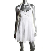 Guess Womens Cotton Halter Sundress