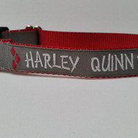 Harley Quinn Inspired Embroidered Dog Collar (Help a real Harley Quinn)