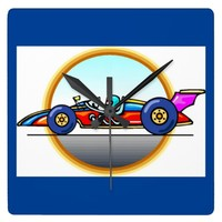 Racecar Race Car Wall Clock