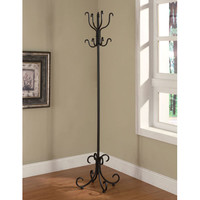 Coaster Furniture 900863 Black Finish Coat Rack with Curved Feet