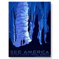 See America ~ Carlsbad Caverns ~ Vintage Travel Post Card from Zazzle.com