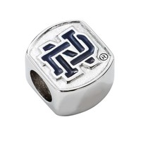 LogoArt Notre Dame Fighting Irish Sterling Silver Bead (Blue)