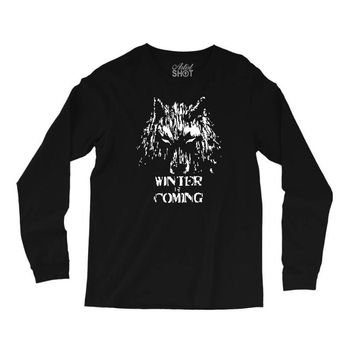 game of thrones direwolf winter is coming Long Sleeve Shirts