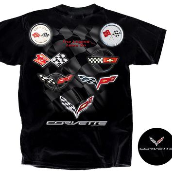 Joe Blow Men's Corvette C1-C7 Flag Collection T-Shirt