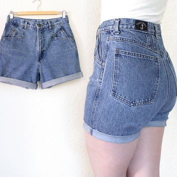 Shop Women's Cuffed Jean Shorts on Wanelo