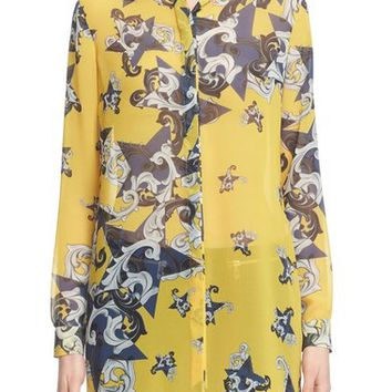 Versace Collecton Print Georgette Blouse | Nordstrom