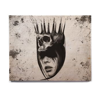 "Ivan joh ""PRINCESS"" Black White Abstract People Illustration Painting Birchwood Wall Art"