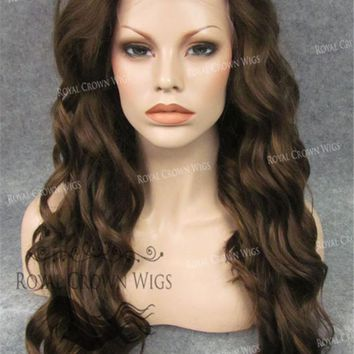 """24"""" Synthetic Lace Front with Wave Texture in Brown/Blonde Mix"""