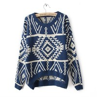 Retro streets sweater pop geometric patterns
