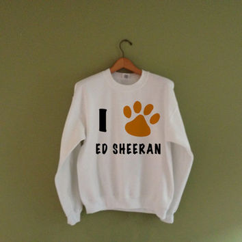 Ed Sheeran Sweatshirt | Cat Paw Print