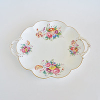 Charming Blossoms China Serving Vanity Perfume Tray George Jones and Sons CRESCENT CHINA England