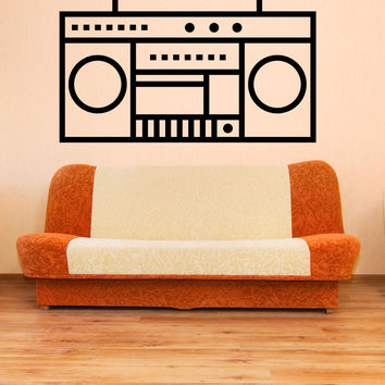 Vinyl Wall Decal Sticker Boombox #OS_MB1246