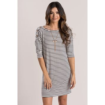 Brenda Striped Shift Dress
