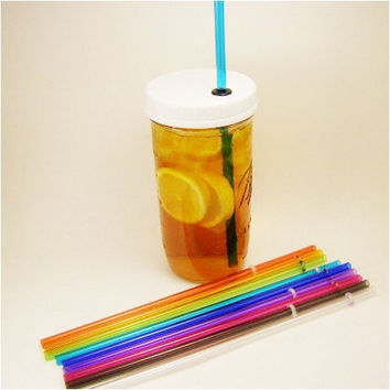 Pint and half size Mason Jar Tumbler with Lid & Straw Growler To Go Cup