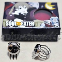 HOLRAN Soul Eater Death Shinigami Skull Ring Cosplay Rings